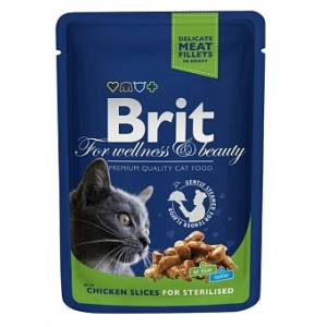 Brit Premium Cat Sterilised 100г 24шт