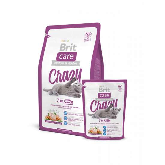 Brit Care Cat Crazy I'm Kitten для Котят Гипералергенный Курица рис